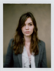 Alice (kenny ip) Tags: portrait urban london film polaroid fuji alice barbican instant 4x5 tilt f25 largeformat graflex speedgraphic wideopen 5x4 7inch instantfilm fp100c45 aeroektar 178mm kennyip