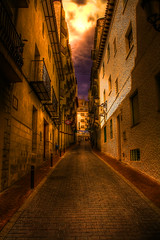 Side Street (Billy McDonald) Tags: spain alley cobbles hdr sidestreet