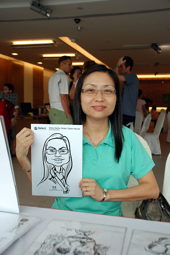 Caricature live sketching for Sime Darby Select Open House Day 1 - 16