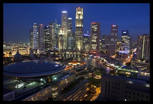 Flickr: Sheba_also - Singapore Business Centre at Dusk-1=