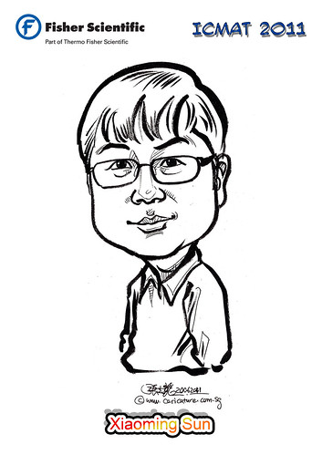 Caricature for Fisher Scientific - Xiaoming Sun