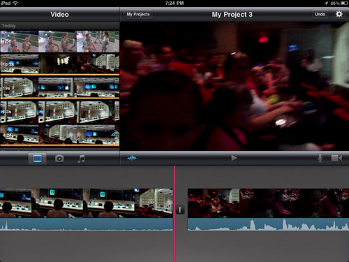 6 (iMovie for iPad) - Swipe a selected clip