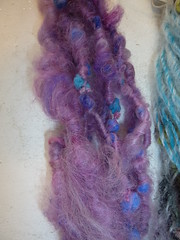 Overspun novely yarn