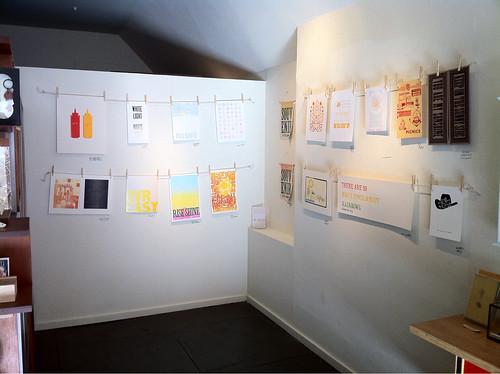 Sunshine Letterpress show installation view.