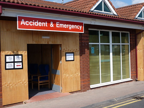 Warwick Hospital Accident & Emergency dept.