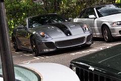 Grigio. (Alex Penfold) Tags: auto camera black london cars alex sports car sport mobile canon silver photography eos grey photo cool flickr image awesome flash stripe picture super ferrari spot knightsbridge exotic photograph spotted hyper gto supercar spotting numberplate exotica sportscar sportscars supercars penfold 599 spotter 2011 hypercar 60d hypercars 599f alexpenfold gto599f