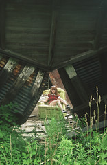 (yyellowbird) Tags: ohio house building abandoned girl barn chair triangle lolita cari