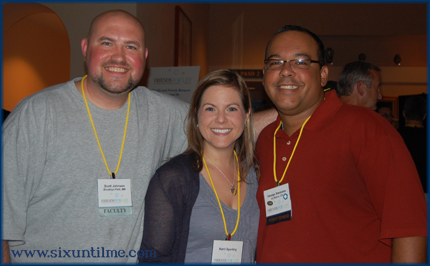 "Scott, Kerri, and George at Friends for Life.  They are indeed my ""insert conference title here."""