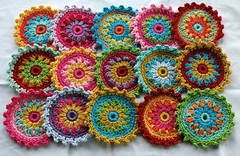 Crochet Embellishments/Coasters (AnnieDesign) Tags: circle crochet coaster embellish