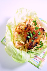 apricot-Lime glazed Chicken Wings with Cole Slaw