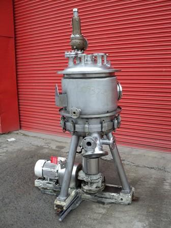 L0937-08 Schenk type ZHF-SR 2.5 KL 316Ti stainless steel vertical pressure leaf filter.