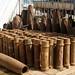 Carcaças de mísseis em Phonsavan