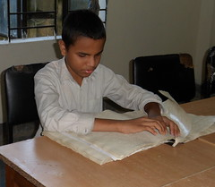Braille Reading at BERDO's Dhaka Center