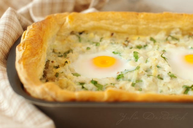 pie with fish and eggs
