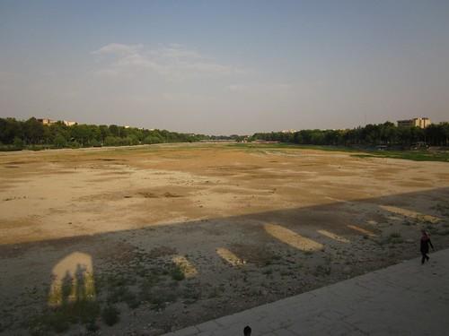 The river runs dry.
