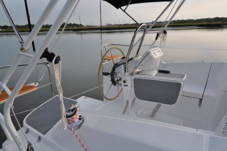 e33 Cockpit Side Detail 2 (Sydney by Sail) Tags: yacht cockpit hunter e33