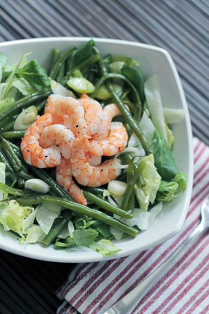 Prawns, Green Beans and Iceberg