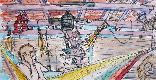 Hammock Watercolor by Danalynn C