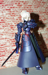 not happy (esper zero) Tags: woman anime sexy girl japan female toy toys actionfigure japanese doll manga hobby collection figurines fate figure saber sword collectible alter figures collectibles pvc excalibur fatestaynight revoltech bfigure jfigure fatehollowataraxia blacksaber darksaber saberalter fatestaynightsaber