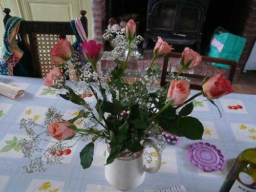 Jug of roses