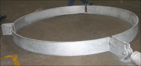 "114"" Diameter 3-Piece Pipe Clamp"