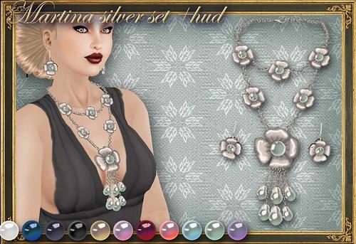 MARTINA silver set+HUD