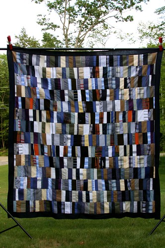 Memory Quilt Made With Recycled Shirts