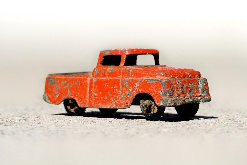 Orange Toy Truck