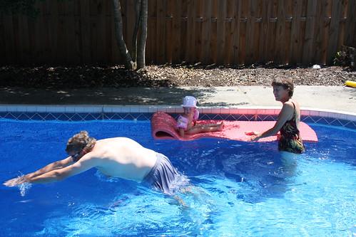 Swimming with Grandma and Grandpa