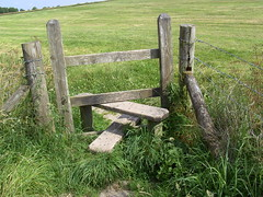 Wiltshire Stile (Davydutchy) Tags: uk england field meadow july register truk wiltshire footpath stile caen tatra calne 2011 caenhillflight