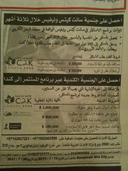 For Egyptian investors/runaways get a new nationality