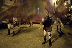 Sbandieratori (Flag wavers) (leosagnotti) Tags: nightphotography umbria italiamedievale fotografianotturna giornatemedievali poggiodiotricoli sbandieratoridiamelia