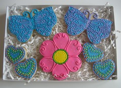 Butterfly Cookies (Songbird Sweets) Tags: flower hearts butterflies sugarcookies songbirdsweets