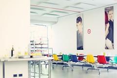 Mensa (Bri Hammond) Tags: italy lunch photography factory chairs cafeteria mensa coloured hammond bri benetton brihammond