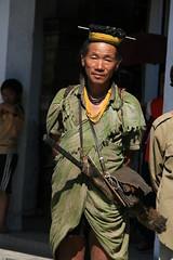 Nishi tribesman on the Kameng river Adventure rafting and Kayaking trip