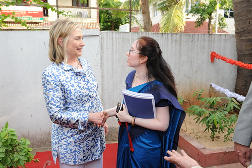 Secretary Clinton in Chennai