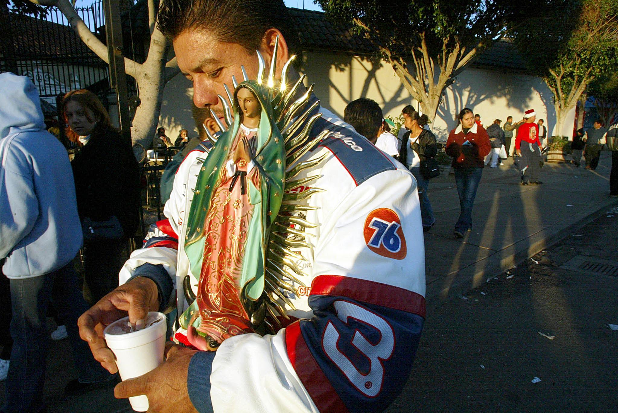 Embracing Saint Guadalupe