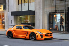 Gullstream (PK Wright) Tags: london july 2011 fab design gullstream sls amg mercedes benz orange matte sloane street knightsbridge mayfair arab super car supercar sports p k wright