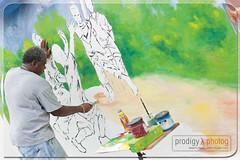 Artist Captures Artist (Dame Peters Photography) Tags: art beauty wall painting artist vi bvi virginislands britishvirginislands canon50mm damepeters prodigyxphotography