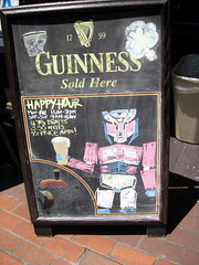 Guinnessbot Prime sign at Comic-Con 2011