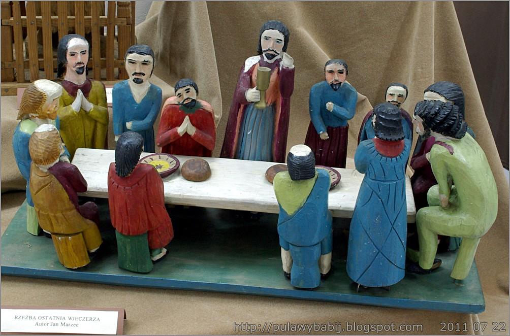 IMGP6030  Rzeźba 'Ostatnia wieczerza' w Muzeum Ziemi Biłgorajskiej