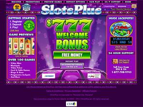 SlotsPlus Casino Home
