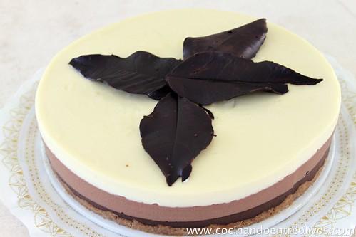 Tarta tres chocolates Cocinando entre Olivos (21)
