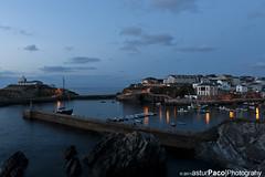 Tapia: Hora Azul (asturpaco) Tags: blue sunset azul canon atardecer asturias hour hora 1740l asturies cantabrico tapiadecasariego