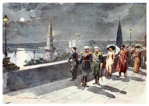009-Terraza del Kremlin en Moscow-Russia-1913- F. de Haenen