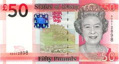 Front of Jersey £50 bank note 2011