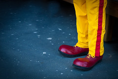 Big Feet (ScottJphoto) Tags: red feet yellow ronald big pants stripe bigfoot redshoes mcdonald bigfeet ronaldmcdonaldhousefunrungeorgiatechscottjacksonscottjp ronaldmcdonaldhousefunrungeorgiatechscottjacksonscottjphotogmailcom