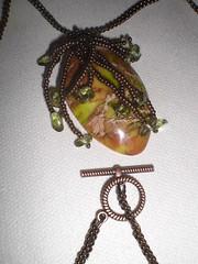 SeaSedament & bronze seedbead pendant3 (Gregelope) Tags: