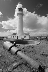 Cannon and Lighthouse 2 - Flat Holm (Nick Pound ) Tags: lighthouse bristol island flat cannon channel holm