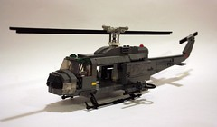 UH1 Huey Helicopter (Babalas Shipyards) Tags: lego aircraft military huey helicopter airforce iroquois airassault